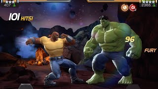 getlinkyoutube.com-Luke Cage Unboxing and Duel vs. Hulk | Marvel Contest of Champions