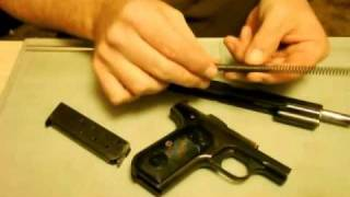 getlinkyoutube.com-Colt 1903 Model M .32 1st Variation field strip procedure.