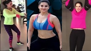 Sunny Leone Hot Workout In Gym Latest Video !!