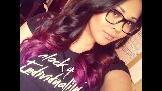 getlinkyoutube.com-HOW TO: Purple/Pink/Fuchsia Dip dye-Ombre Tutorial