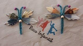 getlinkyoutube.com-Cómo hacer una mariposa con billetes para regalo