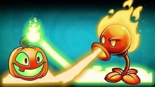 getlinkyoutube.com-Plants Vs Zombies 2 Calabaza Iluminada y Lanzaguisante de Fuego
