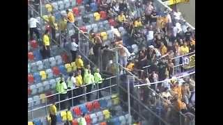 Dynamo Dresden Hooligans Randale im Fanblock