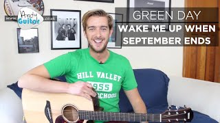 Wake Me Up When September Ends Green Day Guitar Tutorial (How to play) EASY song width=