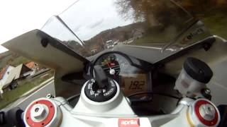 getlinkyoutube.com-Aprilia RSV4 onboard. High-speed. Fuel run.