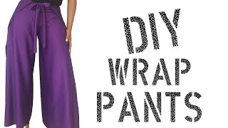 DIY How To Make Wrap Pants