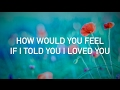 Ed Sheeran - How Would You Feel Paean live acoustic, with lyrics