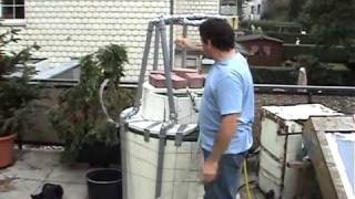 """getlinkyoutube.com-Running a small engine on household biogas using """"brickage' for gas pressure 2"""