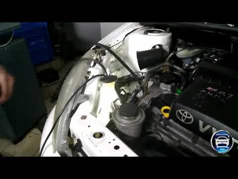 Замена ремня и ролика на Toyota Vitz 2001
