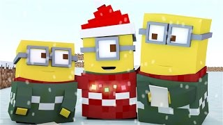 ♪ Minecraft Minions Singing Jingle Bells ♪ - ( Minecraft Animation )