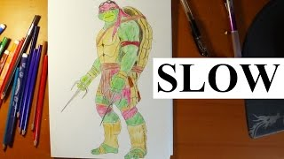 getlinkyoutube.com-How to draw ninja turtles Raphael from movie 2014  - Slow, step by step