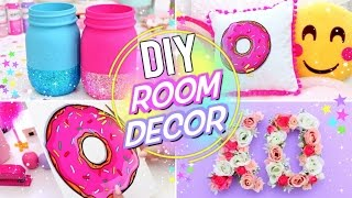 getlinkyoutube.com-DIY BRIGHT & FUN ROOM DECOR! Pinterest Room Decor for Spring and Summer!