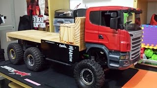 getlinkyoutube.com-RC Axial SCX10 - 6x6 SCANIA R620 Truck Trial Extreme off road