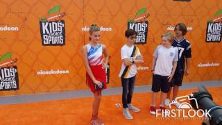 Lizzy Greene,Aidan Gallagher,Casey Simpson & Mace Coronel at the  Kid's Choice Sports Awards