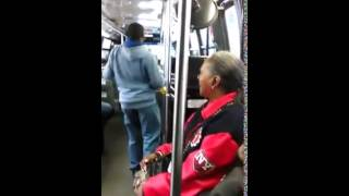 getlinkyoutube.com-He's Back Again, Crazy Man Dancing On The Bus In NYC