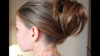 getlinkyoutube.com-How To: Hair for Beginners: Easy Clip Updo Hairstyle | Pretty Hair is Fun
