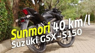 Suzuki GSX-S150 : SUNMORI 40 km/liter