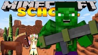 getlinkyoutube.com-Minecraft School : LITTLE KELLY SHOOTS BANK ROBBERS!!