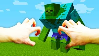 REALISTIC MINECRAFT -  STEVE TURNS INTO A ZOMBIE!