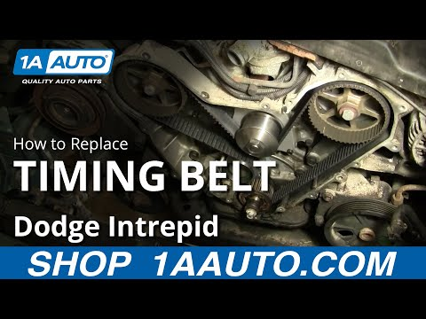 How To Replace Timing Belt Part 2 95-97 Dodge Intrepid