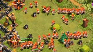 getlinkyoutube.com-Clash of clans - 300 Valkyrie and 300 Healers on lvl 40 King!