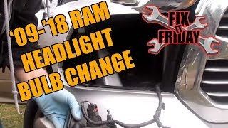 2009-2015 Ram Headlight Bulb Change