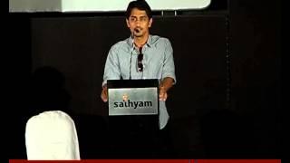 [sound camera action]Actor Siddharth at Rendavathu padam audio launch