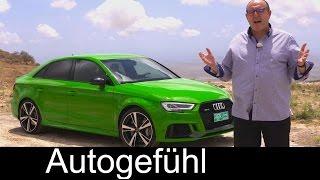 Audi RS3 FULL REVIEW 400 PS hp Facelift sedan Limousine test driven - Autogefühl