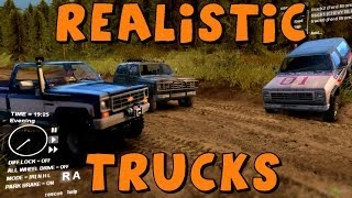 getlinkyoutube.com-Spin Tires | Realistic Trucks | 1979 Silverado and Ford Bronco