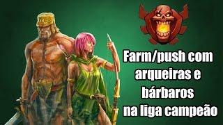 getlinkyoutube.com-ATAQUES NA LIGA CAMPEÃO COM ARQUEIRAS E BÁRBAROS - Clash of Clans