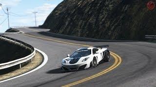 getlinkyoutube.com-Project Cars : McLaren MP4-12C GT3 @California Highway stage 3 + replay [Build 599]