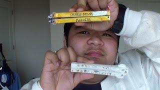getlinkyoutube.com-Homemade Balisong (Butterly) Knife | Happy-Tec