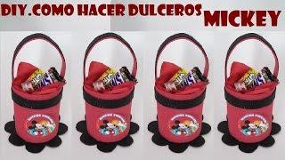 getlinkyoutube.com-COMO HACER DULCERO DE FOAMI DE MICKEY MOUSE