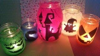 getlinkyoutube.com-TUTORIAL: LANTERNE di Halloween riciclando i BARATTOLI  (-rIcIcLo-DiY-)