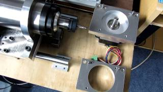 getlinkyoutube.com-2.2Kw Chinese spindle 24000rpm on my new Z axis plate