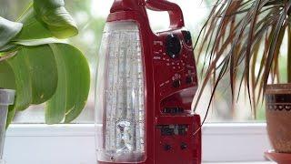 getlinkyoutube.com-Переделка на светодиодное освещение китайского фонаря с радио SUNCA