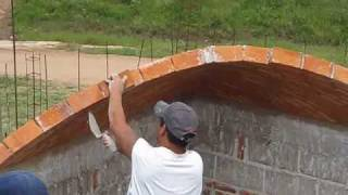 getlinkyoutube.com-Impressively Hand Made Brick Dome Construction