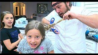 getlinkyoutube.com-DAD CUT HER HAIR!