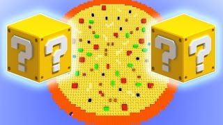 getlinkyoutube.com-Minecraft Lucky Block Pizza Spleef Mod