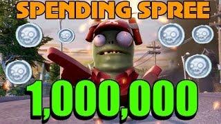 WORLD FIRST - 1,000,000 COIN SPENDING SPREE - Pack Opening PvZ Garden Warfare - BIGGEST EVER!