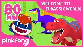 Tyrannosaurus Rex and more! | Dinosaur Songs & Stories | +Compilation | Pinkfong Songs for Children width=