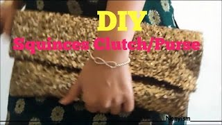 getlinkyoutube.com-DIY sequin clutch - Nonyism