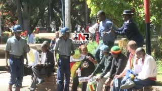 getlinkyoutube.com-VIDEO of Patson Dzamara being arrested during demonstration