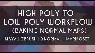 getlinkyoutube.com-Current High Poly to Low Poly Workflow (baking normal maps) Maya xNormal Zbrush