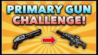 Pixel Gun 3D - Primary Gun Game Challenge! (Using ALL Primary Guns)