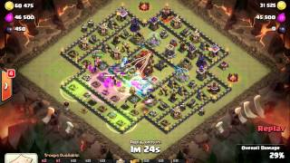 getlinkyoutube.com-3 Star Dreaded Square Base TH10 with 4 Golems (VertexFightR vs Reidinitaly)