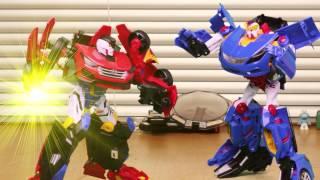 getlinkyoutube.com-[손오공]  헬로카봇 산타페R vs 그랜저B 라이벌 매치