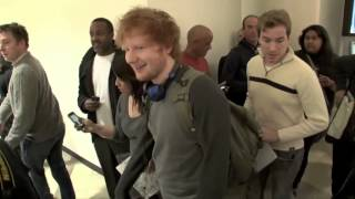 getlinkyoutube.com-Ed Sheeran asked to be fans first kiss by her mother