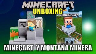 Minecraft Unboxing: Minecart de Hot Wheels y Montaña Minera.