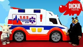 getlinkyoutube.com-🚑 СКОРАЯ ПОМОЩЬ ДЛЯ ПРЕЗИДЕНТА 🚑 Мультяшный обзор машинки скорой помощи от Dickie Toys